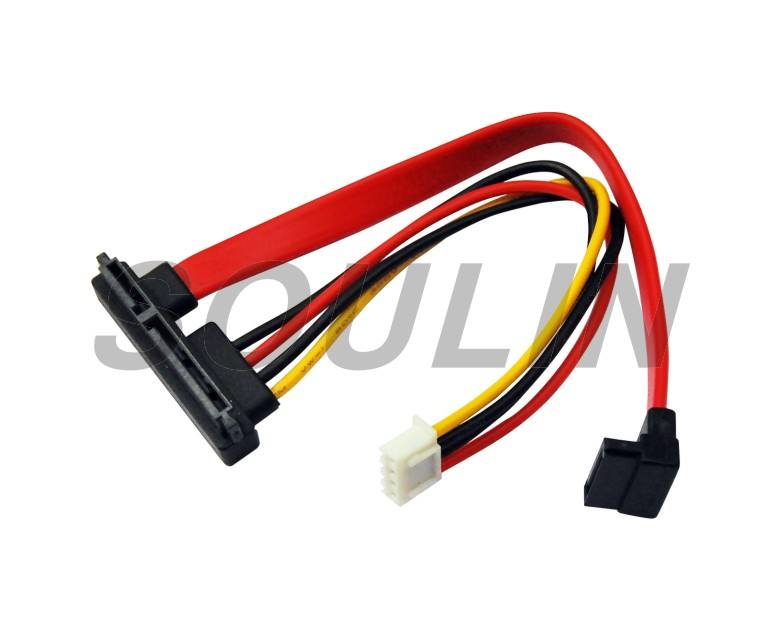 Ide Ke SATA Kabel Tipe D 4 Pin SATA Serial Hard Disk Power Kabel Serial Port 20 Cm 1 Ide untuk 2 Kabel SATA