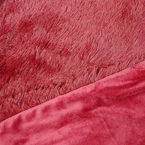 Hot selling 100% polyester fluffy blanket fleece super soft shaggy Plush PV fleece faux fur throw blanket luxury for sofa