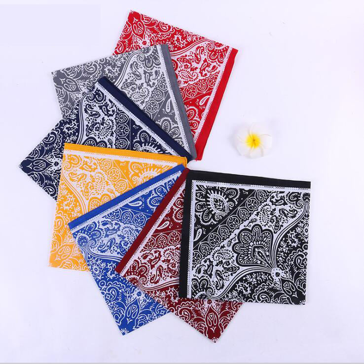 Women Men Fashion Washable Cotton Facemask Head Hair Bandana Scarves Neck Half Face Cover Printing Square Scarf