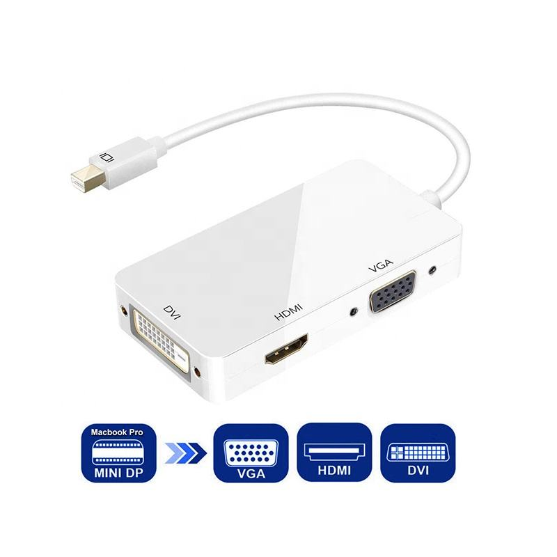 Thunderbolt Adapter Mini DP (Thunderbolt) naar HDMI VGA DVI Adapter 1080P HD Mini Displayport Dongle Compatibel voor Macbook, iMac