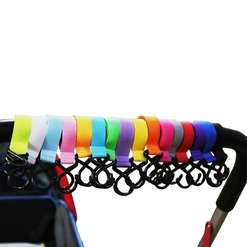 Multi Color Hooks for Baby Stroller 100% Nylon Portable Carabiner Clips Stroller Toy Hooks
