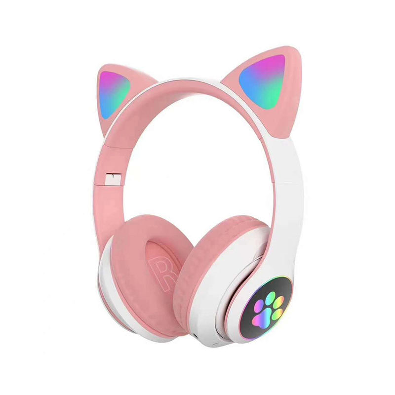 VICTOR Custom Cute Girl Cat Ear Auriculares Bluetooth Earphones Headset With Micro