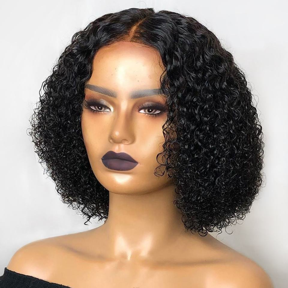 Cuticle Aligned Hair Short Kinky Curly Lace Front Wigs Human Hair 150% Density for Women