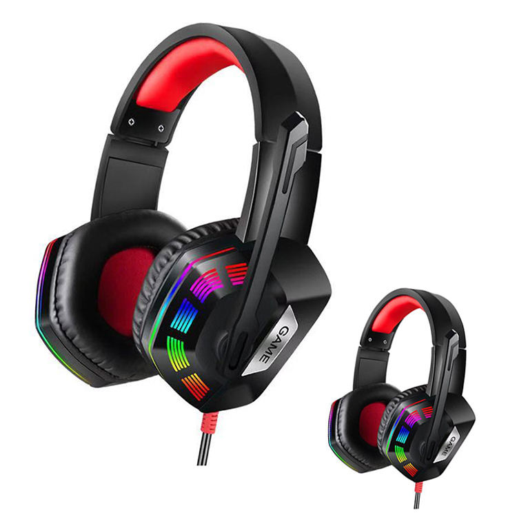 Manufacturer 7.1 virtual USB Gaming Lighting headset in stock Wired Gaming Headphone With Audit Reports of BSCI, ISO9001