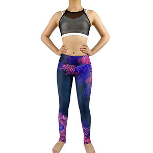 Wholesale Print Recycled Workout Clothing Wear Suit Sublimated Womens Gym Tights Yoga Pants