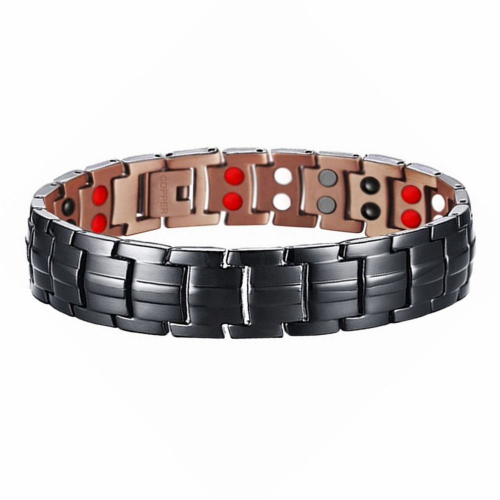 Biology Cooper Red Bronze Men Magnetic Therapy Bracelet