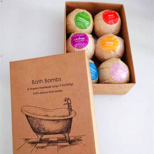Amazon Best Seller Disesuaikan Bom Mandi Hadiah Set 60G * 6 Pcs Handmade Spa Bubble Fizzies Santai Organik Alami bom Mandi
