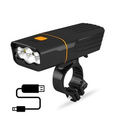 Power bank USB rechargeable 1000lm 3xXML led bicycle front light