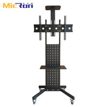 Adjustable TV Cart Floor Stand TV Cart With Wheels