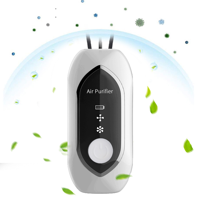 portable anti dust and smoke Negative Generato Ionizer Ion Air Cleaner Necklace mini sport Air Purifier
