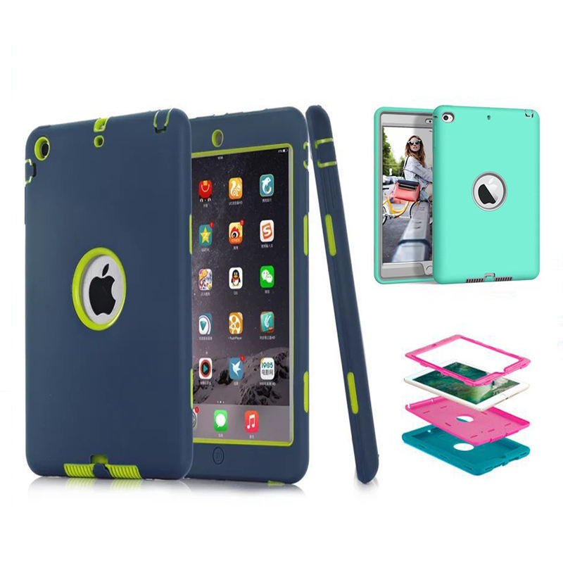 Shockproof 7.9 inch Tablet Case universal for iPad mini 1 2 3 4 5 tpu pc silicone PC 3 in 1 cover case