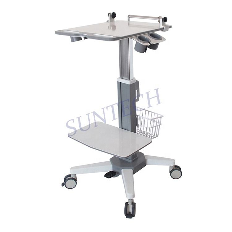 Mobile portable ultrasound scanner trolley ultrasound machine medical cart with wheels
