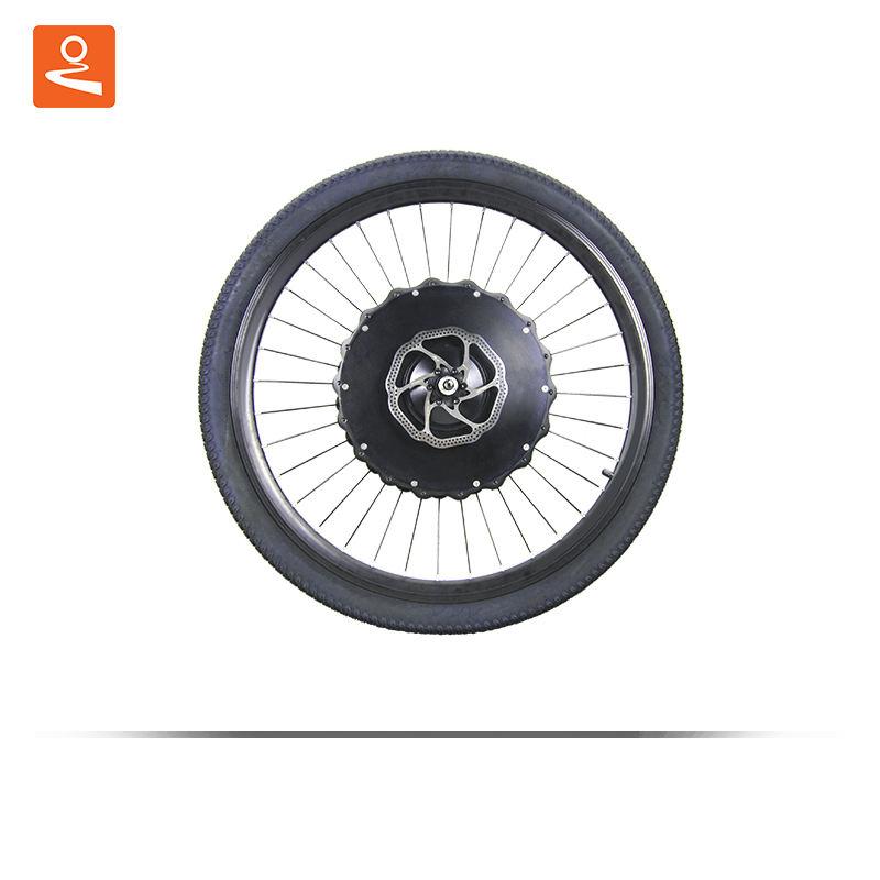 하나의 휠 ebike 키트 36v 350w BX30D 전기 자전거 자전거 변환 키트 배터리 전륜 허브 모터 컨트롤러