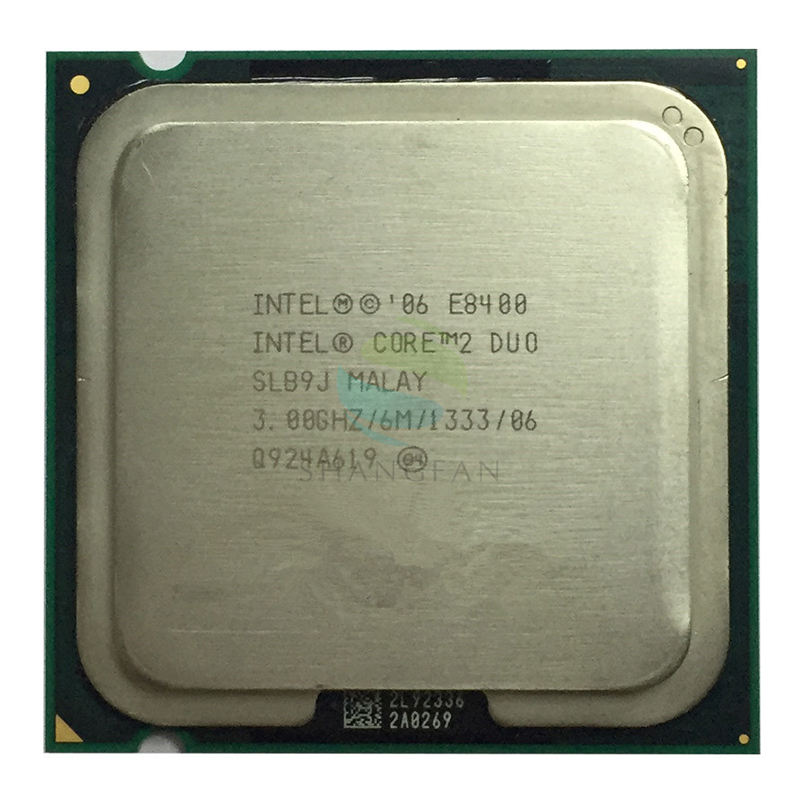 Intel Core 2 Duo E8400 3.0Ghz 6M//1333 Dual Core LGA775 CPU Processor SLB9J SLAPL
