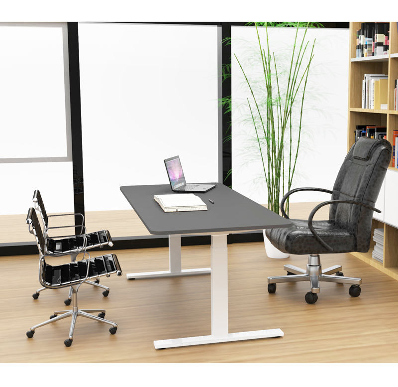 Automatic Adjustable Computer Table Ergonomic Home Bamboo Computer Standing Desk Riser