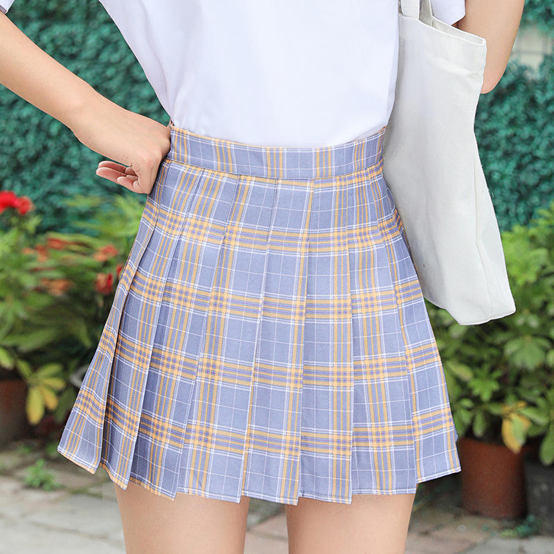 Custom oem jupe faldas jupe sexy saia plissada mini jupe girls' athletic golf midi pleated plaid tennis skirt women's skirts