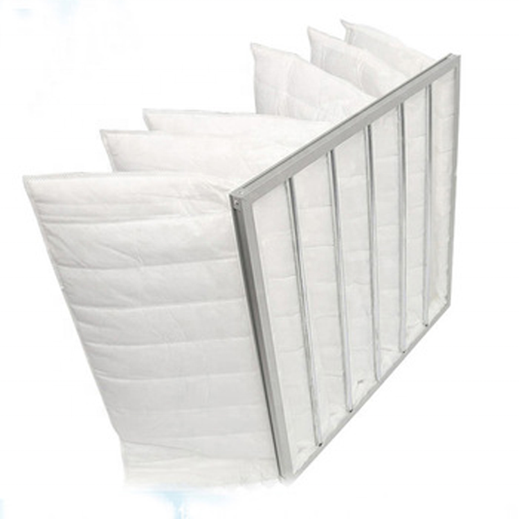 Industrial Polyester synthetic fibre medium pocket air filter bag filter