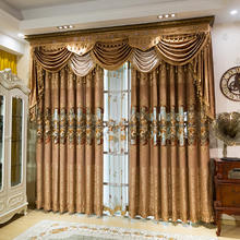 Luxury Embroidery Curtain And Drapes, 2019 Home Textile American Window Curtain/