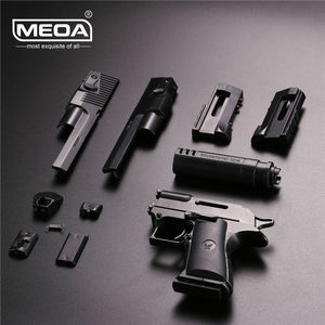 Outdoor Shooter Playing Toy Guns for Boys Building Blocks Toy Gun Desert Eagle DIY Pistol Rifle Can Fire Bullets and Instruction