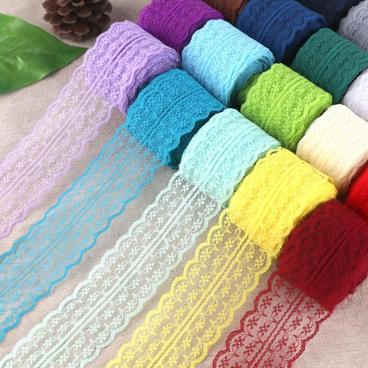Low Moq Wholesale 45mm 100% Nylon Mesh Embroidery Lace/Lace Fabric
