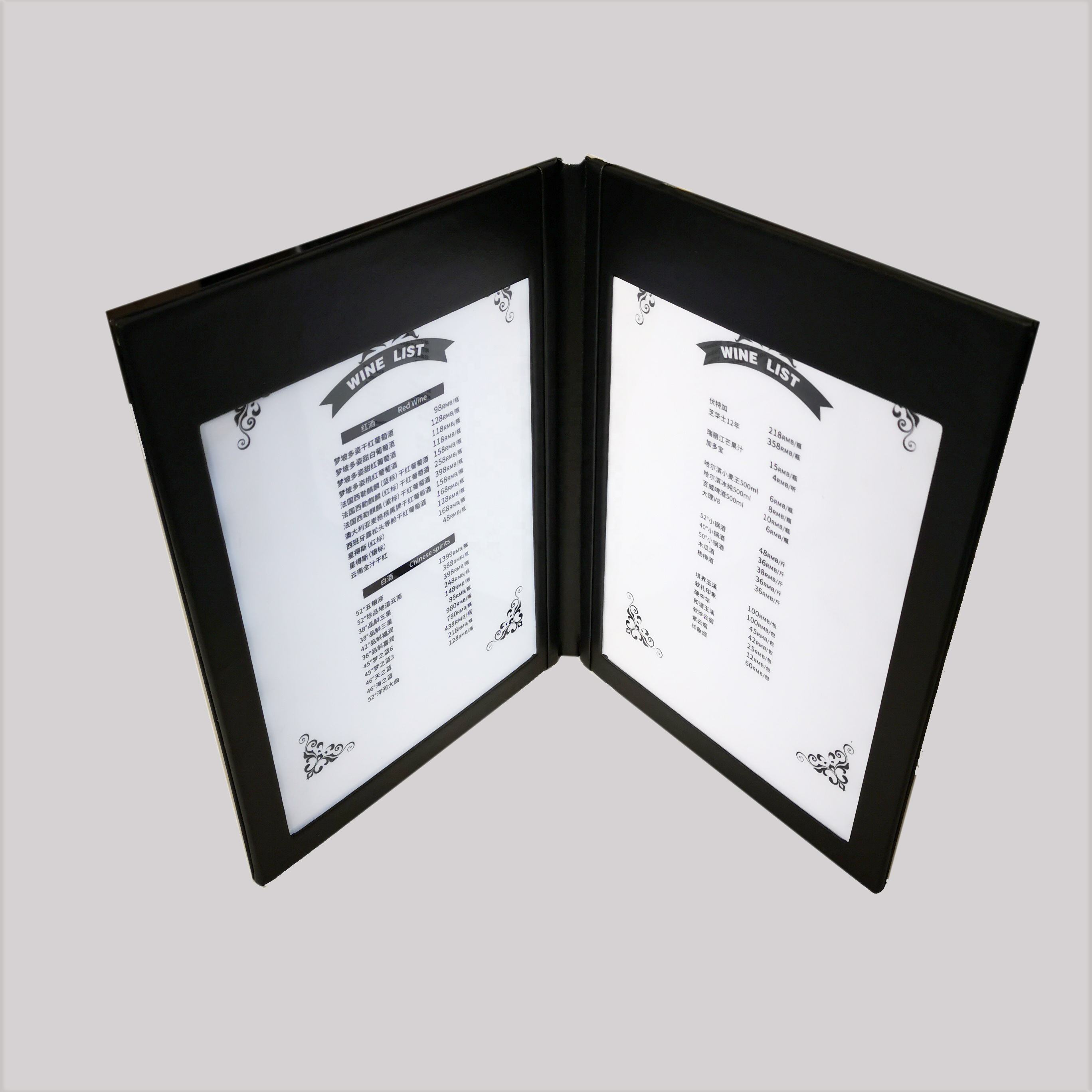 2020 restaurant led menu book stand for restaurant