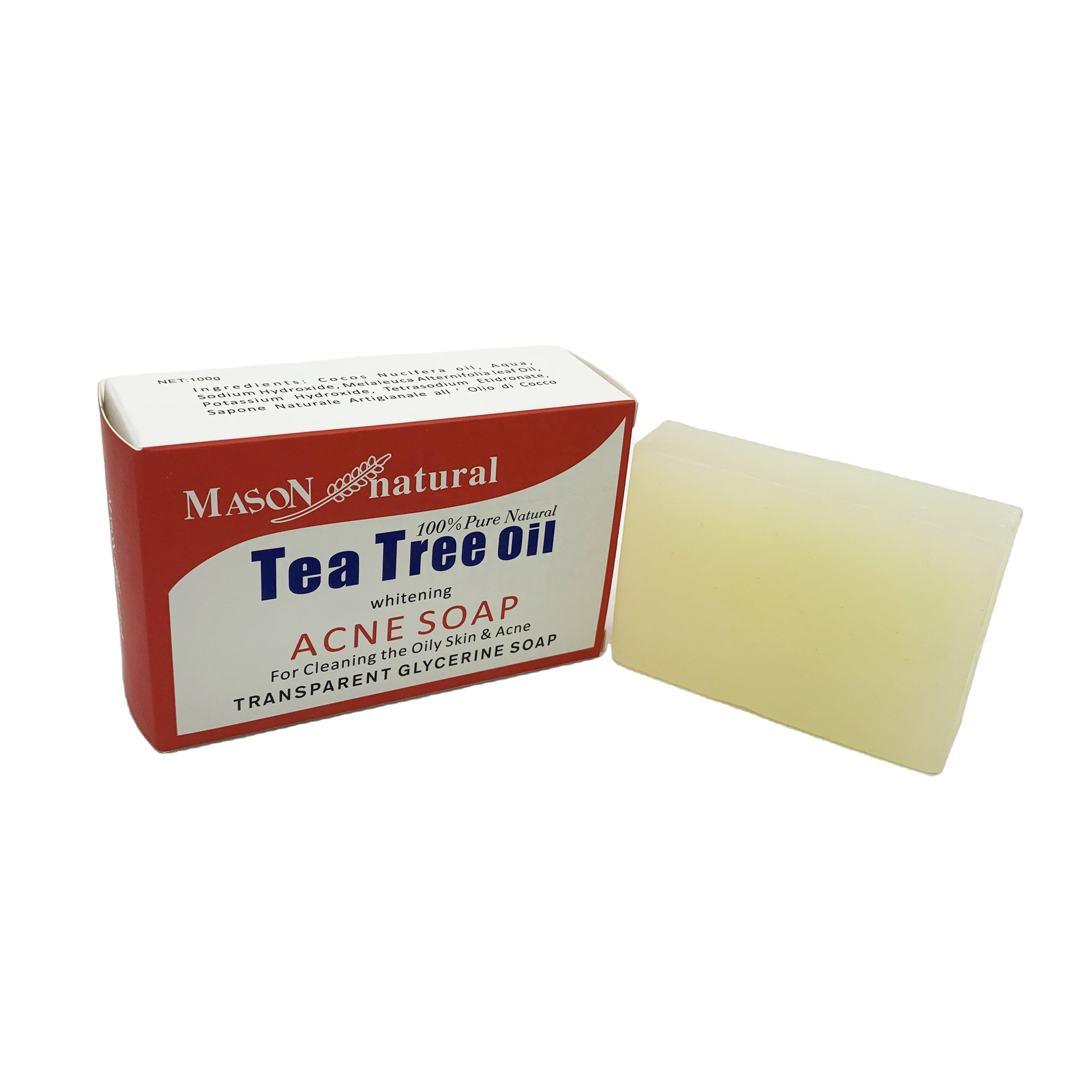 skin cleaning perfume Natural transparent glycerin whitening oil acne tea tree soap