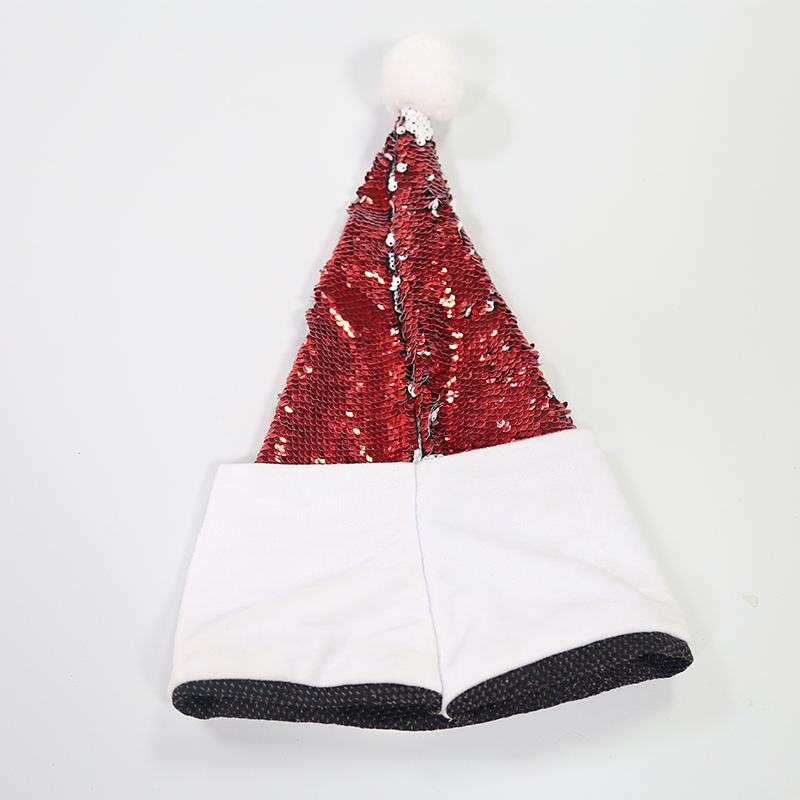 Custom Print Christmas Decoration Christmas Santa Hat Sequin Christmas Hat, Crazy Hats , Happy Hats