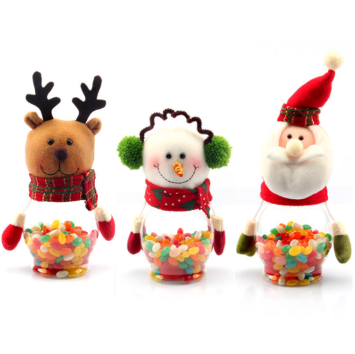 Children's Gift Snowman Shape Christmas Sweet holder Candy Jar for Christmas Decoration