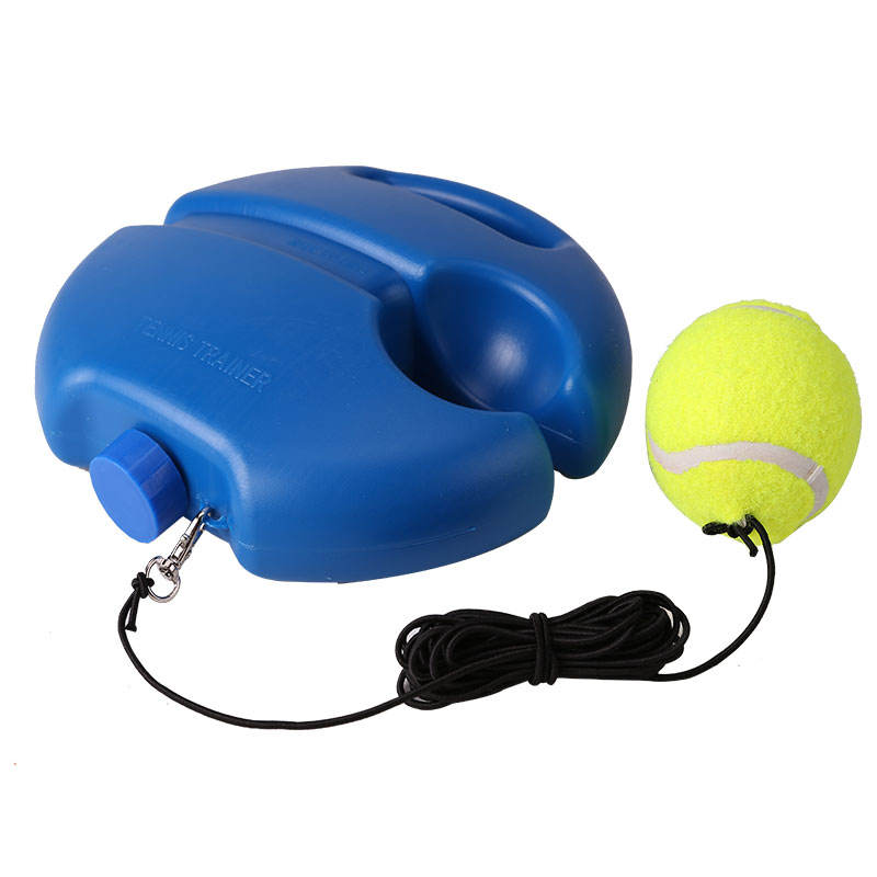 Wholesale high quality Plastic circular base rebound solo tennis trainer set with rope for beginner