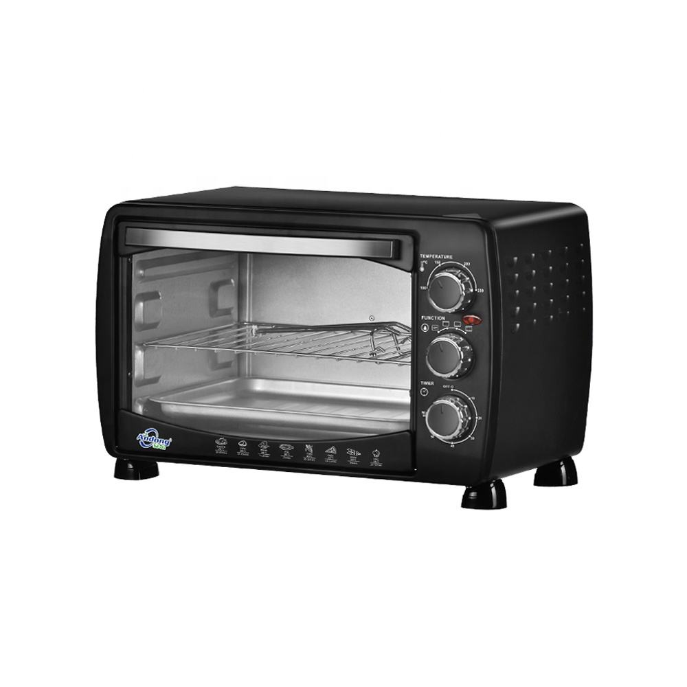 Black color 18L mini oven electric toaster pizza oven for 9 inch pizza