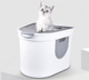 More Cute Pet Supplier Best Seller Top Entry Automatic Cat Litter Box Self Cleaning Totally Enclosed Deodorant Cat Toilet