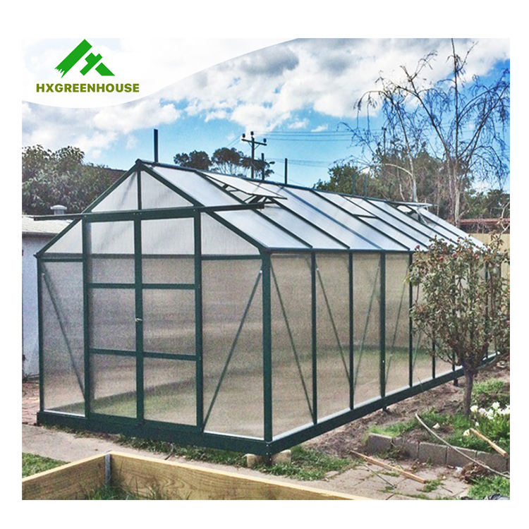PC sheet frame low cost polycarbonate used commercial greenhouse sale green house agricultural other single-span greenhouses
