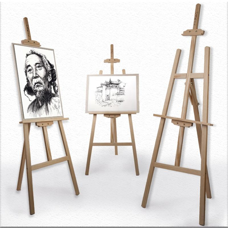 150cm Professional natural adjustable foldable art stand tabletop painting wooden easel for display