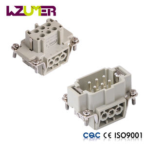 WZUMER Top Quality 6 Pins Male and Female Plugs for Heavy Duty Connector