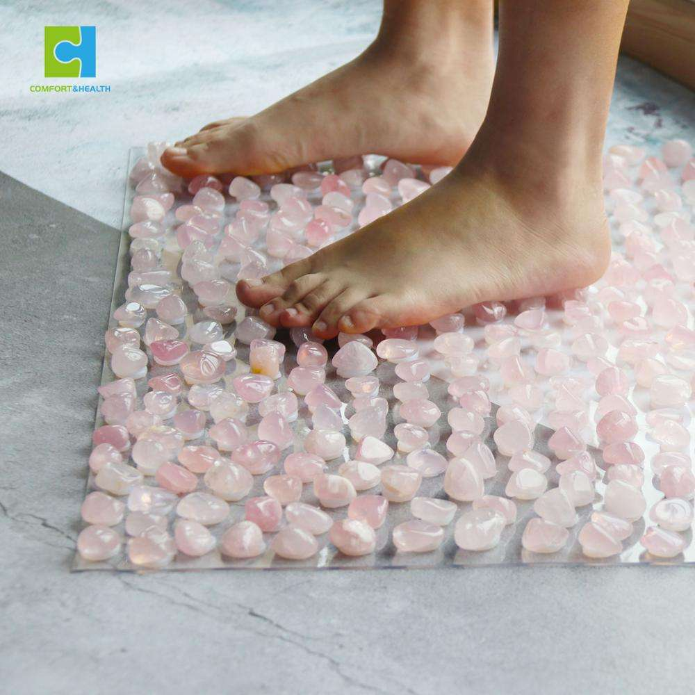 Wholesale Newest Round Jade Foot Massage、Fashional Square Foot Massage Mat With Natural Quartz