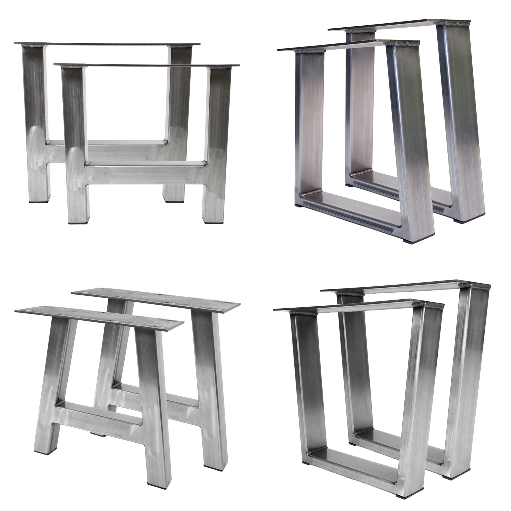 Stainless Steel Table Legs Furniture Feet Frame Brushed Polished Square Console End Side Bench Coffee Stainless Steel Table Legs