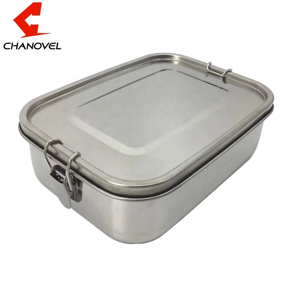 2 3 compartment Leakproof metal food containers 304 stainless steel lunch box for kids