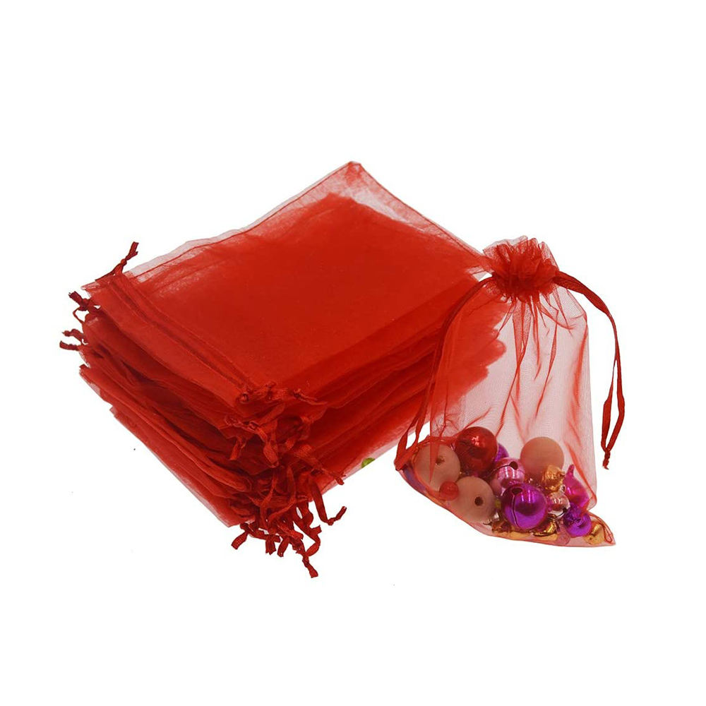 Fashion Organza Jewelry Drawstring Ribbon Pouches Wedding Party Festival Candy Gift Bags