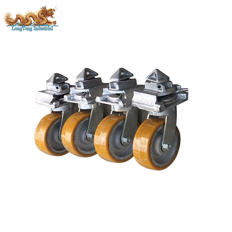 3 ton Single Castor Industrial ISO Shipping Container Caster Wheels