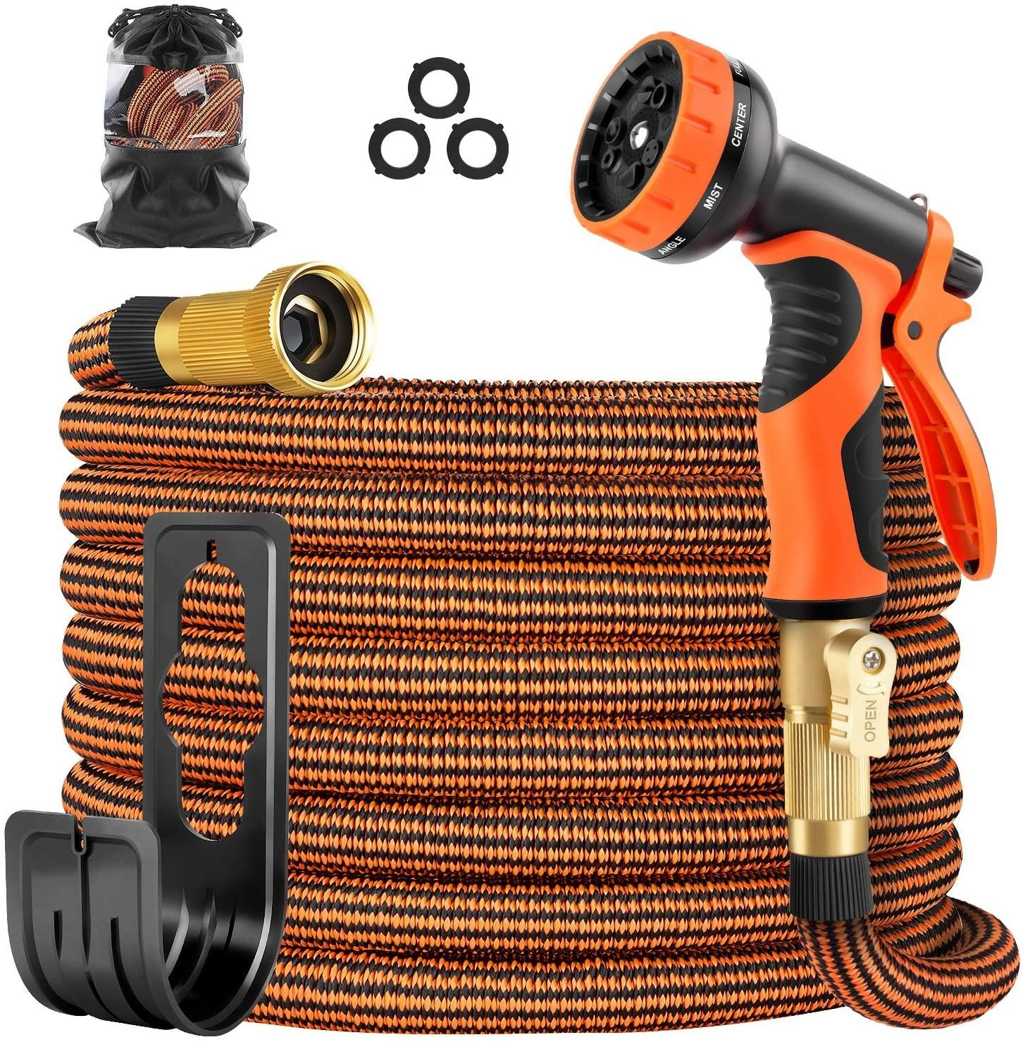 50ft Expanding Garden Hose Lightweight Water Hose with 10 Functions Sprayer