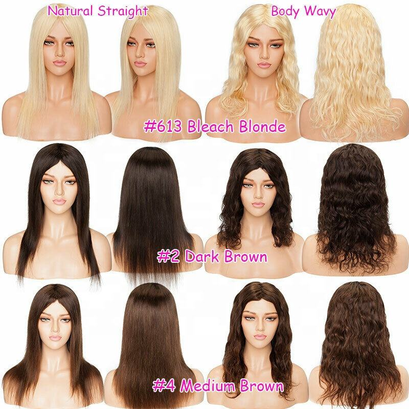 Big Sale Blonde brown ombre straight Body Wavy Full Head Wigs ,100% Real Pure Brazilian Human Hair Wig
