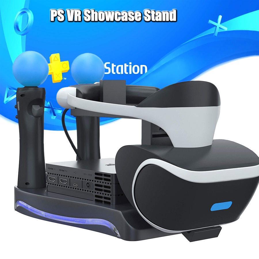 PS4 PS Move VR PSVR LED Storage Stand 2 Charging Ports Headset Holder CUH-ZVR2 2th Bracket for Sony Playstation 4 Accessories