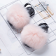 USA wholesale kids fur slides and fur slippers soft fox racoon white for women and toddler baby