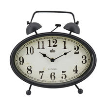 Simple antique style decorative children mini twin bell desktop table kids alarm clock for kids