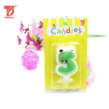 Happy Birthday Party Decorations Cartoon Craft Art 0-9 Number Cake Candle