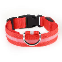 Eco-friendly Reflective Adjustable  Night Safety USB Flashing LED  Dog Collar