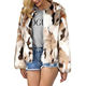 Womens Winter Warm Colorful Faux Fur Coat Jacket Cardigan Outerwear Tops for Party
