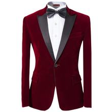 2019 new style modern fit men casual jackets blazer velvet suit made in china
