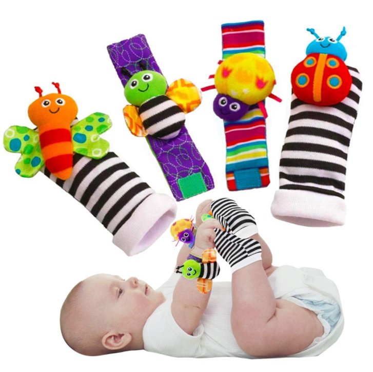 Cute Animal Soft Baby Socks Toys Foot for Butterflies and Lady