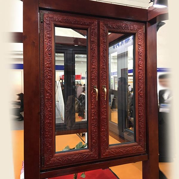 Hot sell exterior windows frame design and ideas for antique window Chinese style